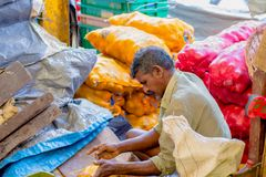 Street photograph of Pettah Manning market , Sri Lanka Royalty Free Stock Images