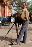 Street photographer in India Royalty Free Stock Photography