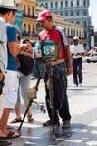 Street photographer in Old Havana Stock Photography