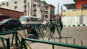 Street photographer. At Obalande Lagos royalty free stock photo