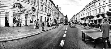 Street photography. Artistic look in black and white. Royalty Free Stock Photo