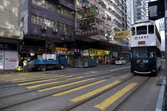 Street view and crossing in Asia stock photography
