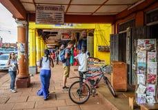 Street photography. Jinja, Uganda -September 2015 - A candid street moment Stock Images