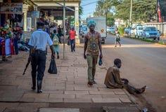 Street photography. Jinja, Uganda -September 2015 - A candid street moment Stock Image