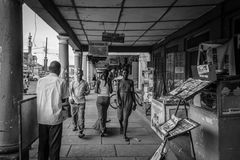Street photography. Jinja, Uganda -September 2015 - A street scene in Uganda's eastern town of Jinja Stock Photo