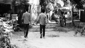 Street photography. Peolple walking on the street  no people india Stock Photography