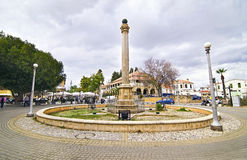 Street photography - roundabout at Kyrenia occupied Cyprus royalty free stock photos