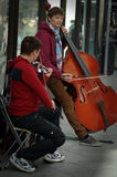 Street Photography 60: Street musicians performing Stock Image