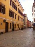 Street place in Rovinj, Croatia Royalty Free Stock Photo