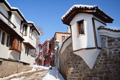 Street of Plovdiv`s Old Town Stock Photography
