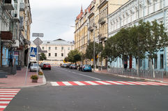 Street on Podil, Kiev Royalty Free Stock Photography