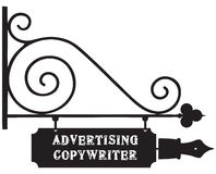 Street pointer Advertising Copywriter Stock Image