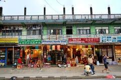 Street of Pokhara Stock Photos