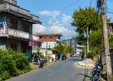 Street in Pokhara, Nepal Royalty Free Stock Photos