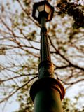 Street lamp pole beauty stock photos