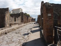Street in Pompeii Royalty Free Stock Photo