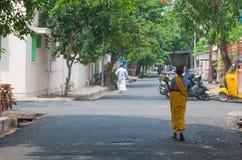 Street in Pondicherry, India. Stock Photos