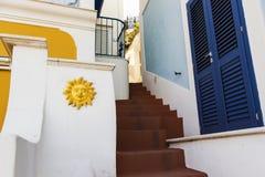 Street of Ponza Stock Images