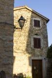 Street in Porec, Croatia. Sunny street in Porec, Croatia, Istria Royalty Free Stock Image