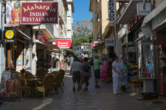 Street in Port de Soller Mallorca Royalty Free Stock Photo