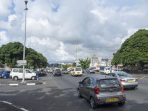 Street in Port Louis, Mauritius royalty free stock photography