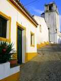 Street of portugal terena. Street. Late with much heat in a small village of called portugal terena stock photos