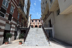 Street in Portugalete, Spain Royalty Free Stock Image