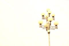Street post lamp. Modern build street post lamp Royalty Free Stock Images