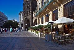Street at the Powder Gate in Prague Royalty Free Stock Image