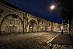 A street in Prague along the tracks Royalty Free Stock Photography