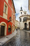 Street of Prague, Czech Republic Stock Photos