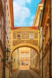 Street of Prague, Czech Republic Stock Image