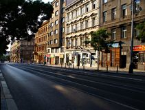 Street of Prague, one of the most visited capital of Europe. Royalty Free Stock Photos