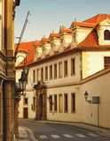Street of Prague Stock Photo