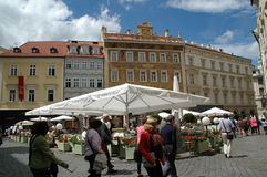 Street in Prague. Touristic area in Prague, Chez Republic royalty free stock images