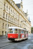 Prague tram stock photo