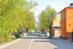 Street in Priozersk. Stock Photo