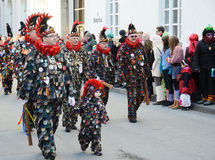 Street procession at the German carnival Fastnacht Royalty Free Stock Photos