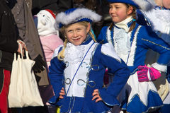 Street procession at the German carnival Fastnacht Stock Photography