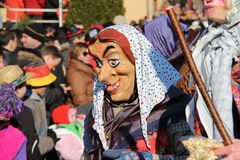 Street procession at the German carnival Fastnacht Royalty Free Stock Image