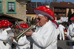 Street procession at the German carnival Fastnacht Stock Image