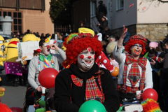 Street procession at the German carnival Fastnacht Royalty Free Stock Photo