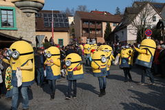 Street procession at the German carnival Fastnacht Stock Photos