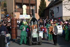 Street procession at the German carnival Fastnacht Royalty Free Stock Photography
