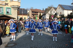 Street procession at the German carnival Fastnacht Stock Photo