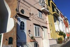 Street in Procida in Italy Stock Image