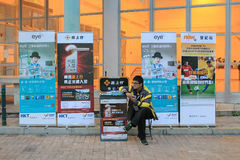 Street promoter in hong kong Stock Images