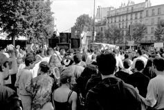 Street protest in France Royalty Free Stock Photos