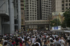 Street Protests in Hong Kong Royalty Free Stock Images