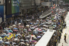 Street Protests in Hong Kong Stock Photos